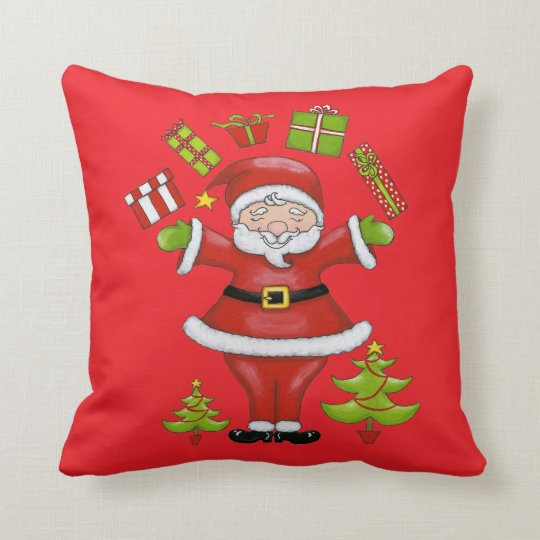 Sassy Santa Throw Pillow