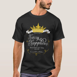 SASSY SAPPHIRES: FRONT LOGO T-Shirt