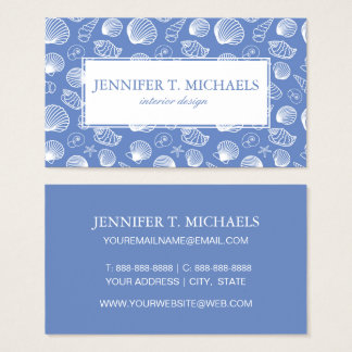 Sassy Seashell Pattern Business Card