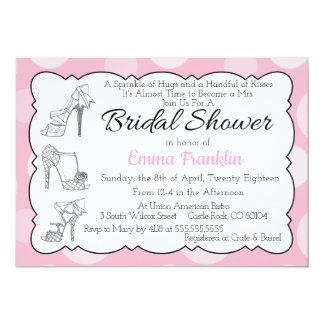 Sassy Shoes Bridal Shower Invitation