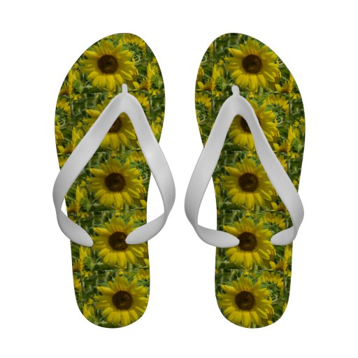 Sassy Sunflower Sandals Flip-Flops