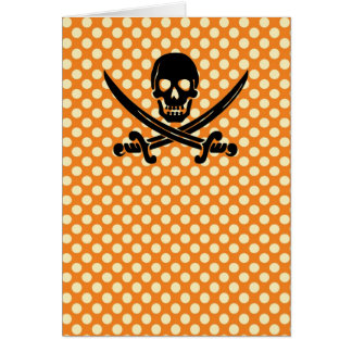 Sassy & sweet Halloween skull pirate print Card