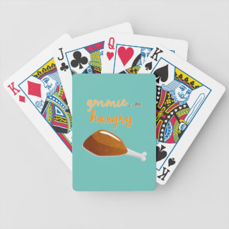 Sassy Thanksgiving Bicycle Playing Cards