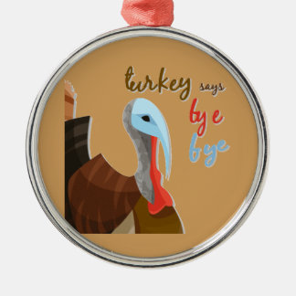 Sassy Thanksgiving Silver-Colored Round Ornament