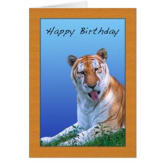 Sassy Tiger Birthday Card