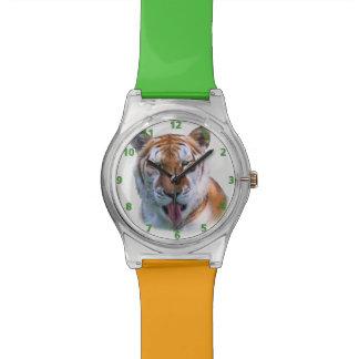 Sassy Tiger Cat Customizable Wristwatch