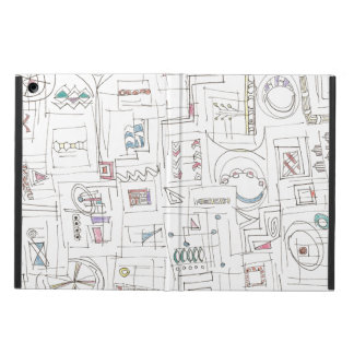 Sassy-Whimsical Pattern Print Case For iPad Air
