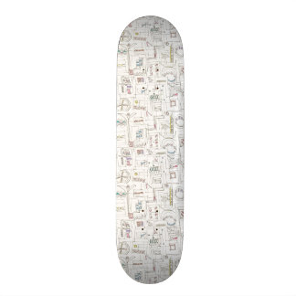 Sassy-Whimsical Pattern Print Skateboard
