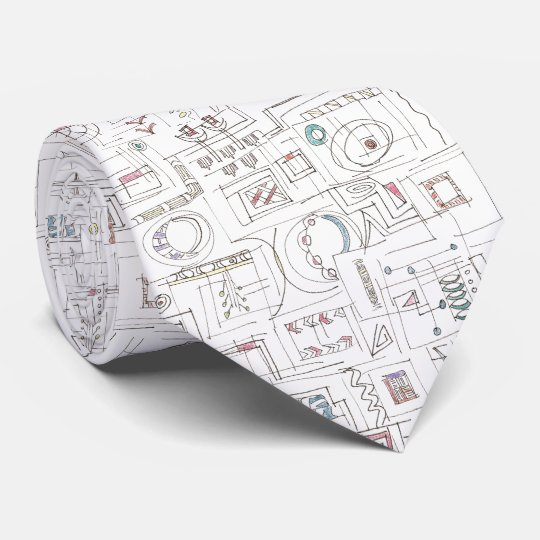 Sassy-Whimsical Pattern Print Tie