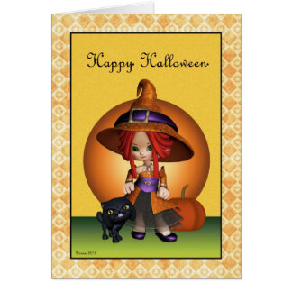 Sassy Witch Happy Halloween Greeting Card