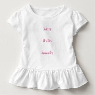 Sassy, Witty, Spunky ruffle tee