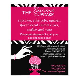 Sassy Zebra Cupcake Bakery Flyer