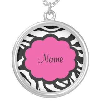 Sassy Zebra Pink and Black Necklace