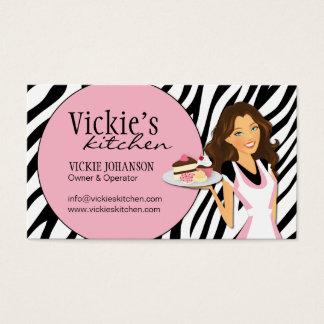 Sassy Zebra Print Bakery Business Card