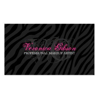 Sassy Zebra Print Makeup Artist Business Cards