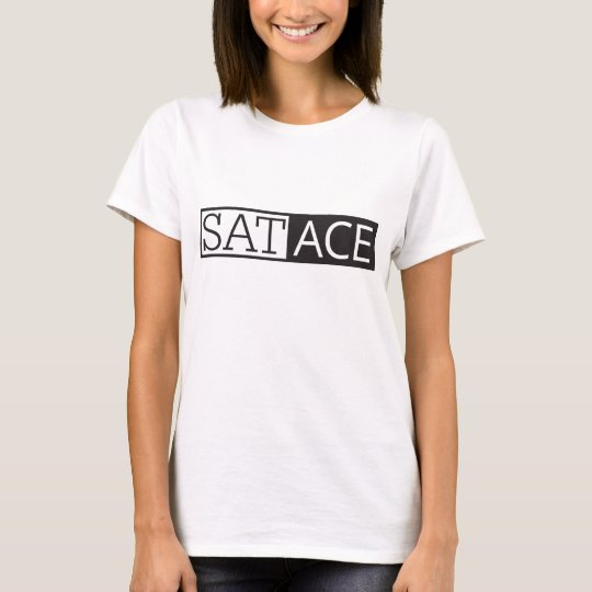 SAT ACE, Women's basic T-shirt, White T-Shirt