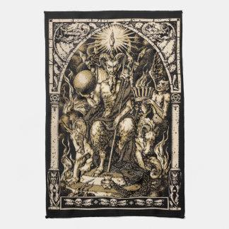 Satan Enthroned 16x24 on Twill Cotton - Kitchen Towel