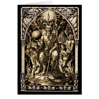 Satan Enthroned Winter Solstice Greeting Card