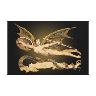 Satan & Eve 36x24 Stretched Canvas Artwork- Canvas Print