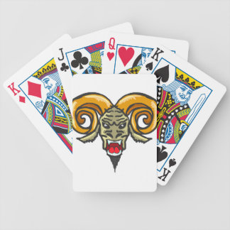 Satan Horned Beast Sketch Bicycle Playing Cards