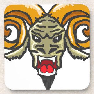Satan Horned Beast Sketch Coaster