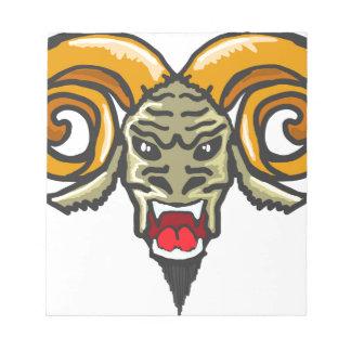 Satan Horned Beast Sketch Notepad