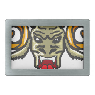 Satan Horned Beast Sketch Rectangular Belt Buckle