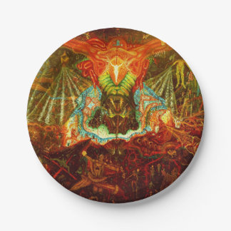Satan inspiring the world 7 inch paper plate