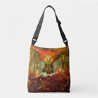 Satan inspiring the world crossbody bag