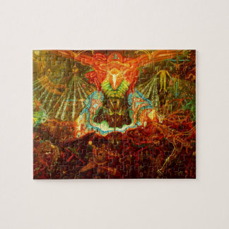Satan inspiring the world jigsaw puzzle