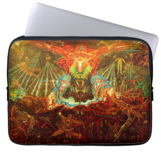 Satan inspiring the world laptop sleeve