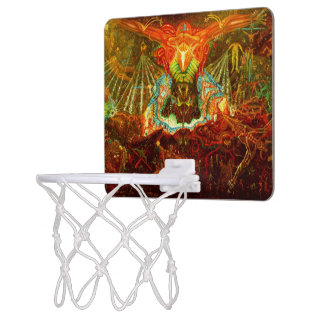 Satan inspiring the world mini basketball hoop