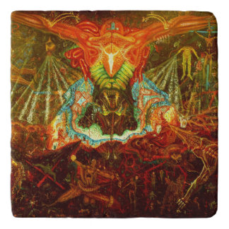 Satan inspiring the world trivet