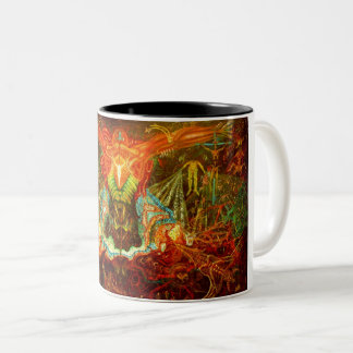 Satan inspiring the world Two-Tone coffee mug