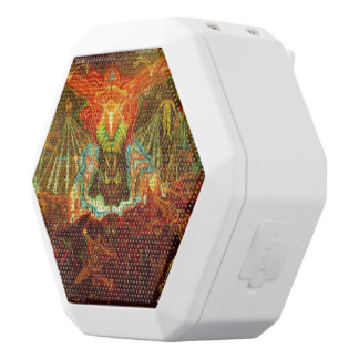 Satan inspiring the world white bluetooth speaker
