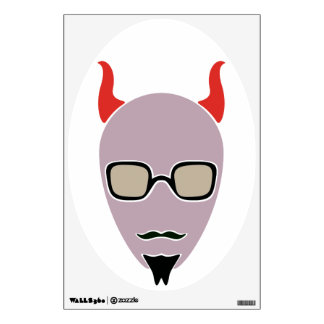 Satan Is A Hipster Wall Decal