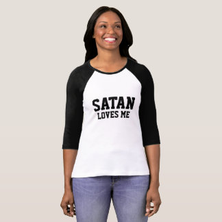 Satan of loves ME - baseball - Girls - shirt