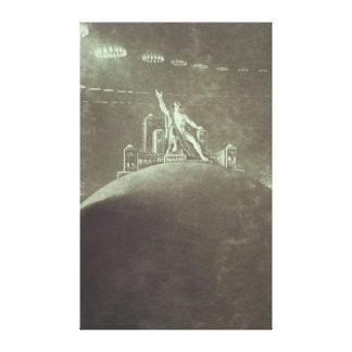 Satan presiding at the Infernal Council, 1824 Stretched Canvas Print