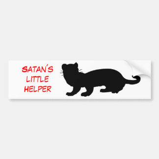 Satan´s little Helper also ferret-outlined Bumper Sticker