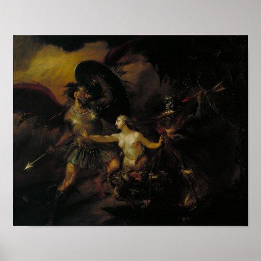 Satan, Sin and Death Print
