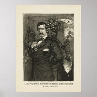 Satan tempting Booth [1865] Posters