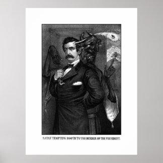 Satan Tempting John Wilkes Booth Poster