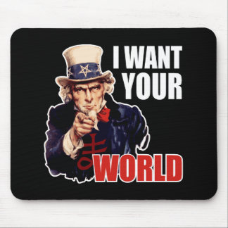 Satanic Capitalist Uncle Sam Mouse Pad