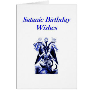 Satanic/Demonolatry Birthday Card