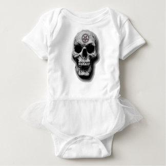 Satanic Evil Skull Design Baby Bodysuit