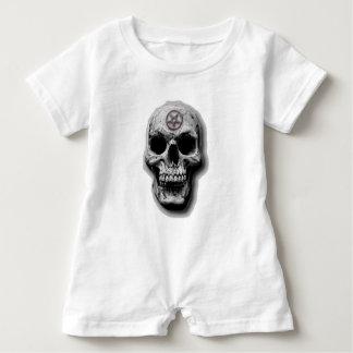 Satanic Evil Skull Design Baby Romper
