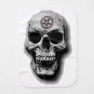Satanic Evil Skull Design Burp Cloth