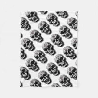 Satanic Evil Skull Design Fleece Blanket