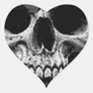Satanic Evil Skull Design Heart Sticker