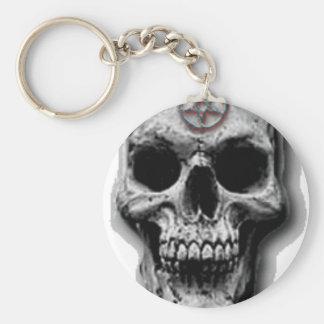 Satanic Evil Skull Design Keychain